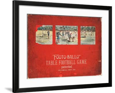 Boxed 'Footo-Ballo' Board Game--Framed Giclee Print