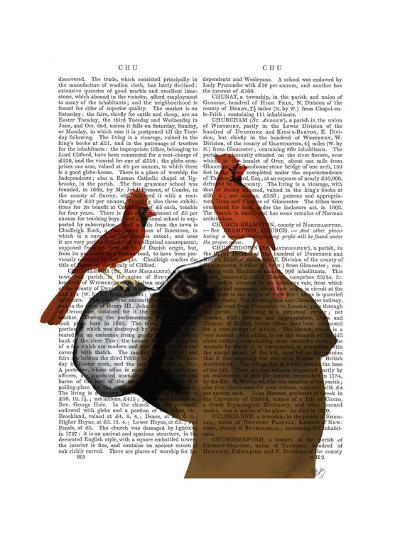 Boxer and Red Cardinals-Fab Funky-Art Print