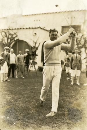 Boxer Jack Dempsey Tries Out a Different Sport, January 23, 1924