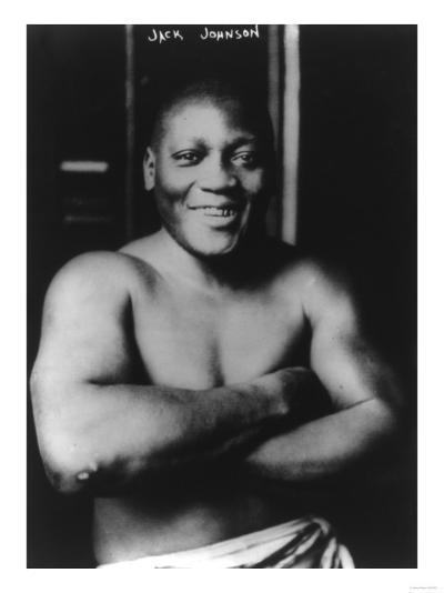 Boxer Jack Johnson Photograph-Lantern Press-Art Print