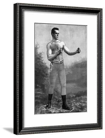 Boxer Jake Kilrain, 1889--Framed Giclee Print