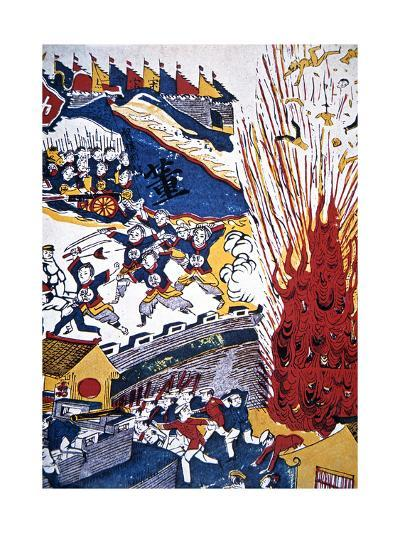 Boxer Propaganda Depicting the Siege of the Foreign Settlements at Tientsin--Giclee Print