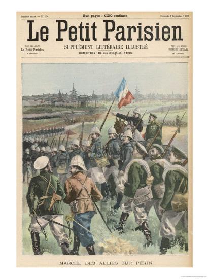Boxer Rebellion the Allies Advance on Peking- Carrey-Giclee Print