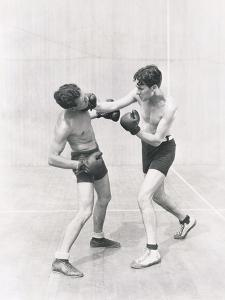 Boxer Throwing a Right Hook