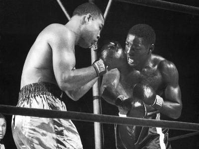 Boxers Joe Louis and Ezzard Charles Battling During a Bout--Photographic Print