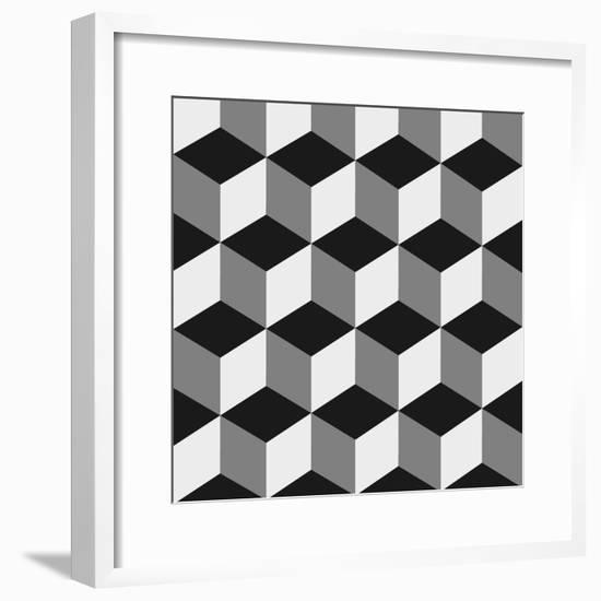 Boxes Illusion Copy-yobidaba-Framed Premium Giclee Print
