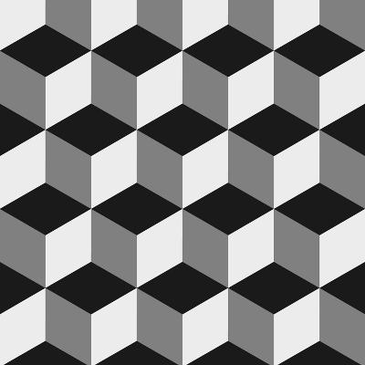 Boxes Illusion Copy-yobidaba-Art Print