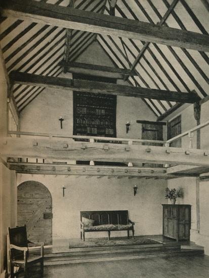 'Boxhurst Farm, Kent: End of Dance Room. Restored and converted by Oliver Hill', c1928-Unknown-Photographic Print