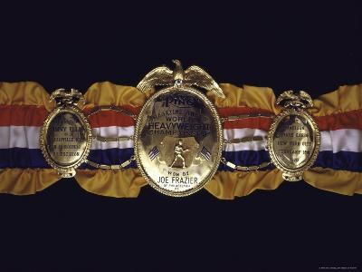 "Boxing Champ Joe Frazier's ""The Ping Magazine Award World Heavyweight Championship"" Medal-John Shearer-Photographic Print"