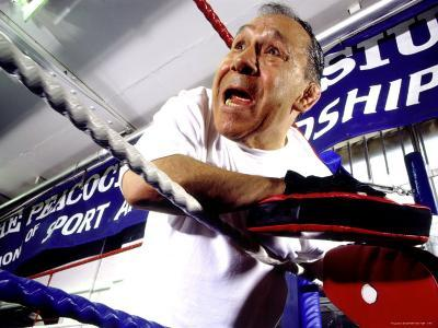 Boxing Coach in a Boxing Ring--Photographic Print