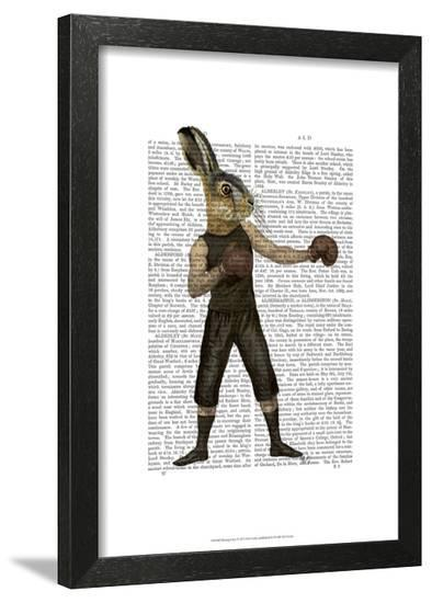 Boxing Hare-Fab Funky-Framed Art Print