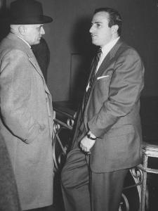 Boxing Manager Constantine D'Amato Talking with Promoter Teddy Brenner