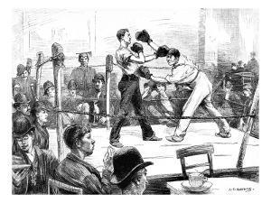 Boxing Match at a Men's Club, London, 1889