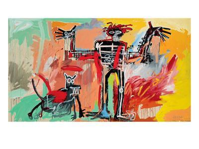 Boy and Dog in a Johnnypump, 1982-Jean-Michel Basquiat-Giclee Print