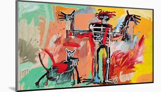 Boy and Dog in a Johnnypump, 1982-Jean-Michel Basquiat-Mounted Giclee Print