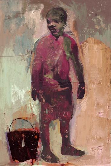 Boy and Water Bucket 2016-David McConochie-Giclee Print