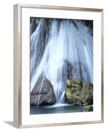 Boy at Reach Falls Near Muirton, Jamaica-Holger Leue-Framed Photographic Print