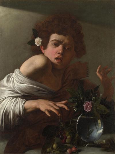 Boy Bitten by a Lizard, Ca 1595-Caravaggio-Giclee Print