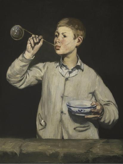 Boy Blowing Bubbles-Edouard Manet-Giclee Print