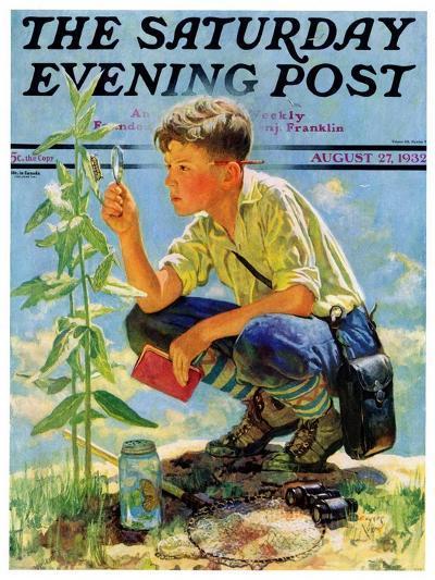 """Boy Botanist,"" Saturday Evening Post Cover, August 27, 1932-Eugene Iverd-Giclee Print"