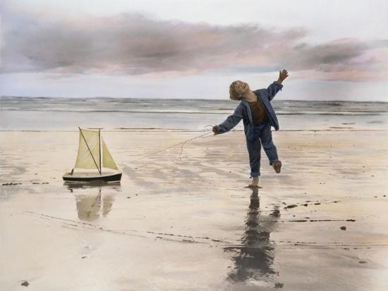 Boy, Fishing-Nora Hernandez-Giclee Print
