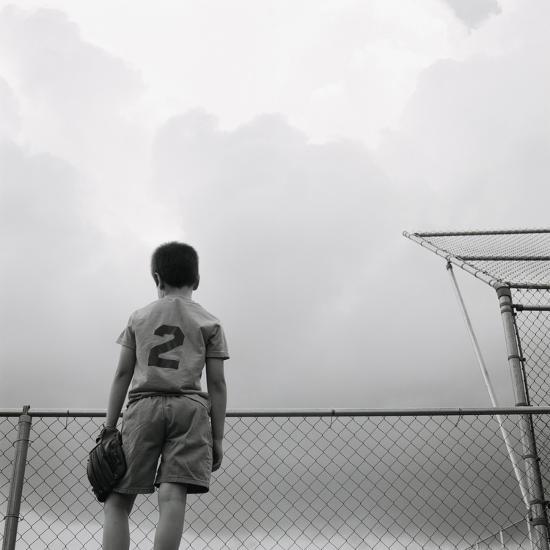 Boy in baseball uniform-Steve Cicero-Photographic Print