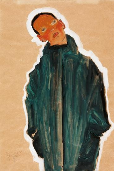 Boy in Green Coat, 1910-Egon Schiele-Giclee Print