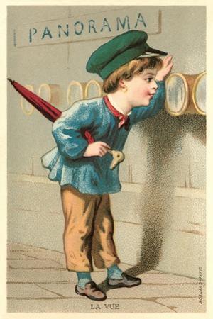Boy Looking Through Port Holes
