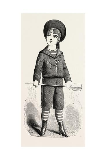 Boy of Four Front, Fashion, 1882--Giclee Print