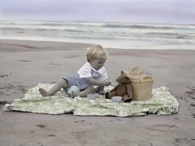 Boy on Beach-Nora Hernandez-Giclee Print