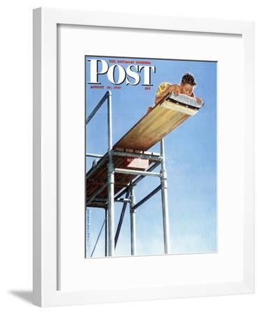 HIGH BOARD DIVER NORMAN ROCKWELL PRINT AUGUST 1947