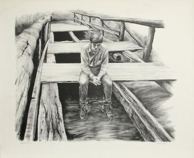 Boy on the Bridge-Harry McCormick-Collectable Print