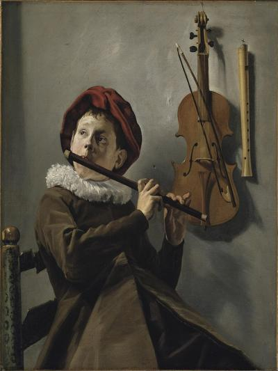 Boy Playing the Flute, c.1630-Judith Leyster-Giclee Print