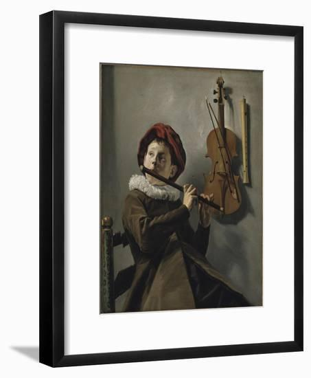 Boy Playing the Flute, c.1630-Judith Leyster-Framed Giclee Print