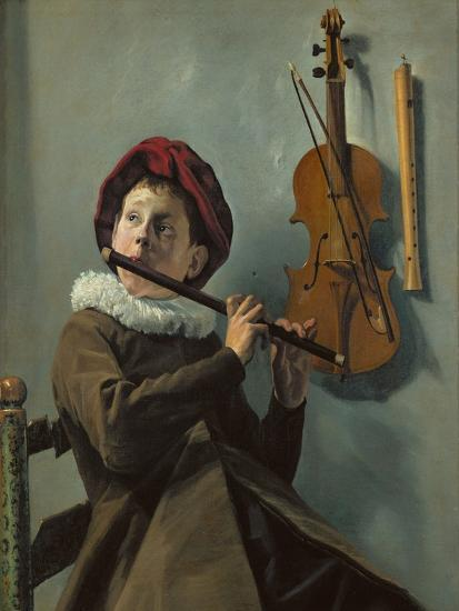 Boy playing the flute-Judith Leyster-Giclee Print