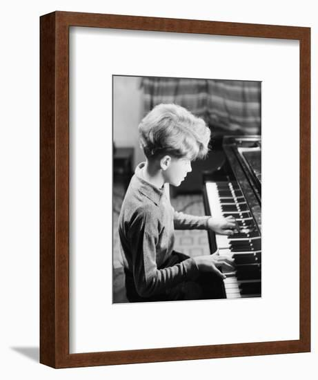 Boy Practicing Piano-Philip Gendreau-Framed Photographic Print