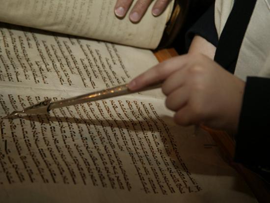 Boy Reading from Torah at Bar Mitzvah-Bill Keefrey-Photographic Print