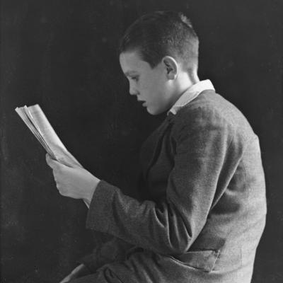 Boy Reading, Photographic Portrait 1936--Photographic Print