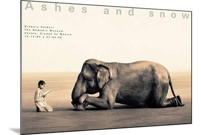 Boy Reading to Elephant, Mexico City-Gregory Colbert-Mounted Print
