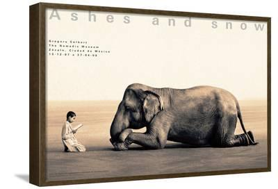 Boy Reading to Elephant, Mexico City-Gregory Colbert-Framed Art Print