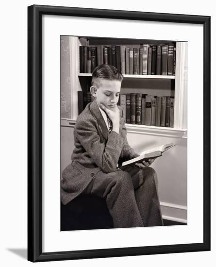 Boy Reading-Philip Gendreau-Framed Photographic Print