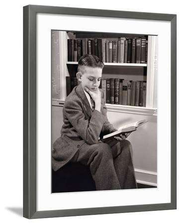 Boy Reading-Philip Gendreau-Framed Photographic Print