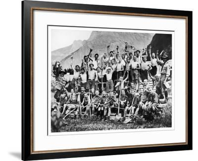 Boy Scouts from All Parts of Europe--Framed Photographic Print
