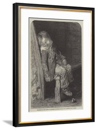 Boy Sleeping--Framed Giclee Print