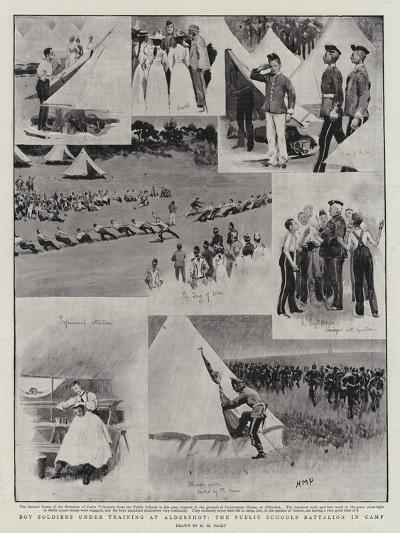 Boy Soldiers under Training at Aldershot, the Public Schools Battalion in Camp-Henry Marriott Paget-Giclee Print