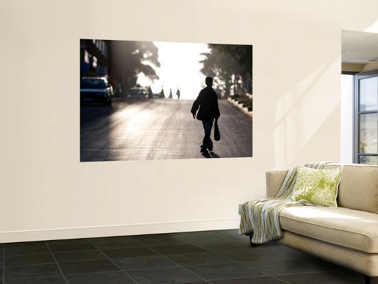 Boy Walking Along Road-Todd Lawson-Wall Mural