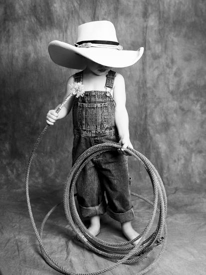 Boy with a Cowboy Hat and Lasso-Nora Hernandez-Giclee Print
