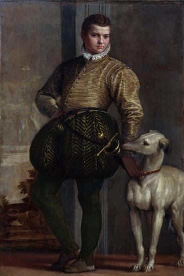 Boy with a Greyhound, c.1570s-Veronese-Giclee Print