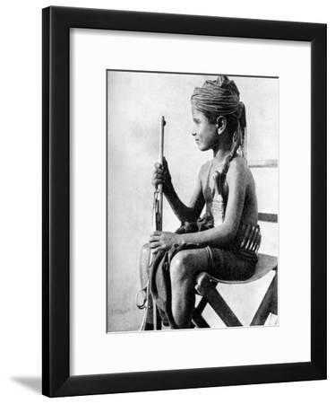 Boy with a Gun, Aden Protectorate, Arabia, 1936--Framed Giclee Print