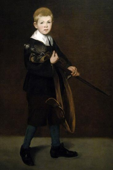"""""""Boy With a Sword"""" 1861-Edouard Manet-Giclee Print"""